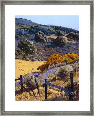 Mustard And Lupine Framed Print