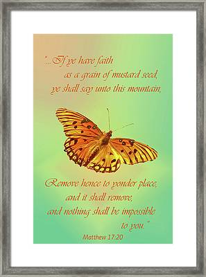 Mustard Seed Faith Framed Print