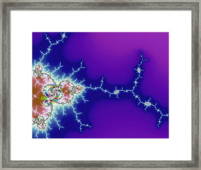 Mutant Flash Attack - Digital Fractal Artwork Framed Print by Matthias Hauser