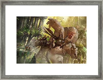 Mutant's Prey Framed Print by Ryan Barger