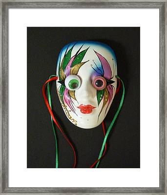 Mutated Mardi Mask Framed Print