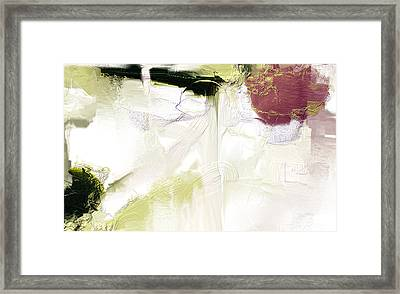 Muted Clay White Framed Print