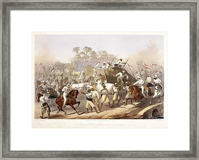 Mutineers Surprised By Her Majesty's 9th Framed Print