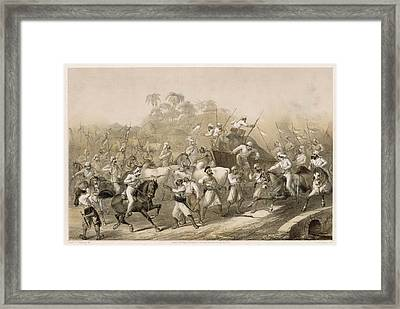 Mutineers Surprised By Her  Majesty's Framed Print by Mary Evans Picture Library