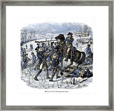 Mutiny: Anthony Wayne 1781 Framed Print by Granger
