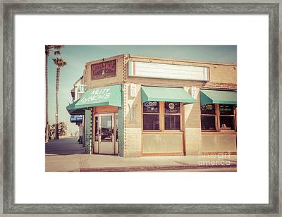 Mutt Lynch's Newport Beach Vintage Picture Framed Print by Paul Velgos