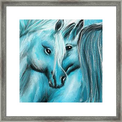 Mutual Companions- Fine Art Horse Artwork Framed Print by Lourry Legarde