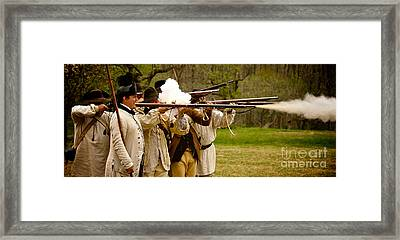 Muzzle Fire Framed Print by Mark Miller