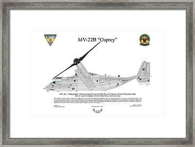 Mv-22b 6732 Vmm-261 Framed Print