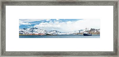 Mv Ushuaia Tourist Ship And The British Framed Print by Panoramic Images