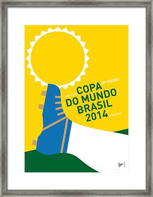 My 2014 World Cup Soccer Brazil - Rio Minimal Poster Framed Print by Chungkong Art