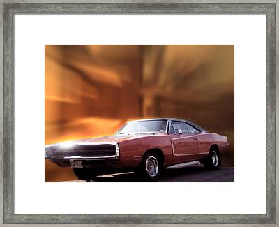 My 70 Charger 440 Six Pack Framed Print by Thomas Woolworth