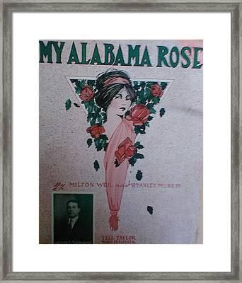 My Alabama Rose  Framed Print by Jeanette  Malinchok