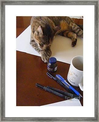 My Art Assistant Framed Print by Nancy Kane Chapman