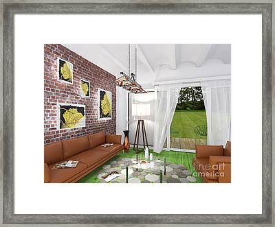 My Art In The Interior Decoration -leaf- Elena Yakubovich Framed Print
