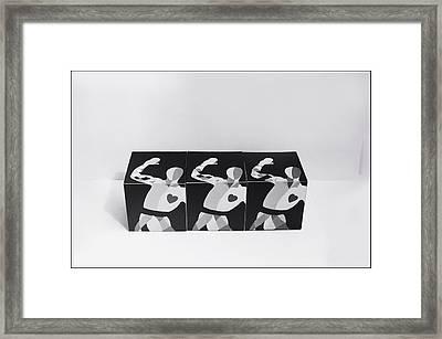 My Bauhaus Harlequin Framed Print by Charles Stuart