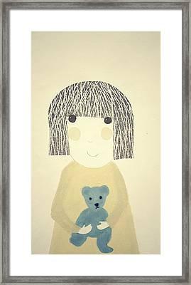 My Bear And Me Framed Print by Katy McFall
