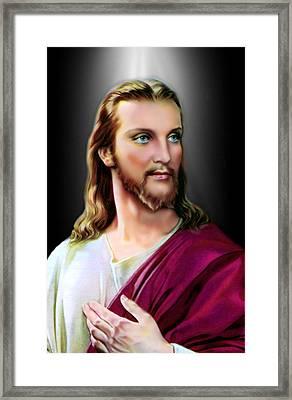 My Beautiful Jesus 2 Framed Print by Karen Showell