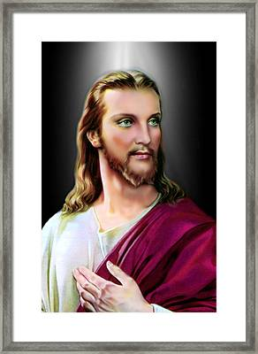 My Beautiful Jesus Framed Print by Karen Showell