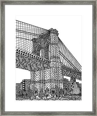 My Beloved Brooklyn Bridge Framed Print
