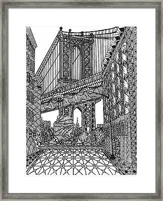 My Beloved Mahattan Brige Framed Print