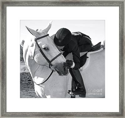 Framed Print featuring the photograph My Best Friend by Barbara Dudley