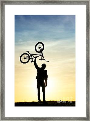 Bmx Biking Framed Print by Tim Gainey