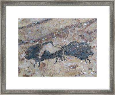 My Bison Lacaze Cave Painting Framed Print