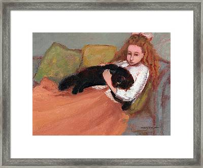 My Black Cat Framed Print