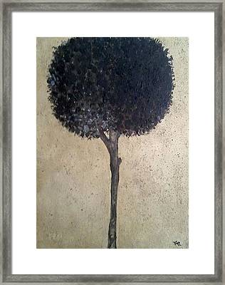 My Black Lotus Framed Print by Mirko Gallery