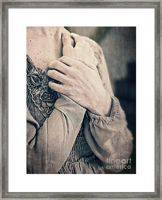 My Broken Heart - Victorian Romance Framed Print by Edward Fielding