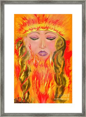 My Burning Within Framed Print by Lori  Lovetere