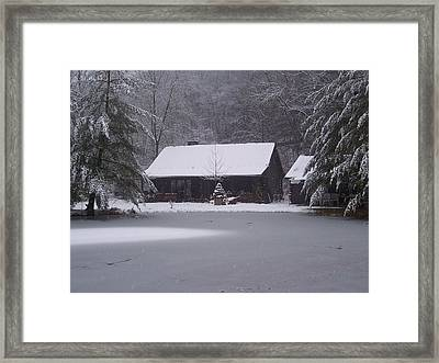 My Cabin In Winter Framed Print