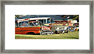 Framed Print featuring the digital art My Cars by Cathy Anderson