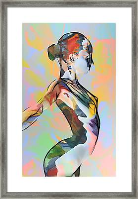 My Colorful Ballerina  Framed Print by Steve K