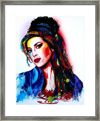 My Colors For Amy Framed Print by Isabel Salvador