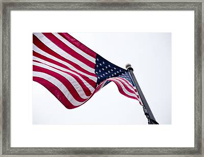 Framed Print featuring the photograph My Country 'tis Of Thee by Courtney Webster