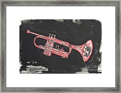 My Cousin's Trumpet Framed Print