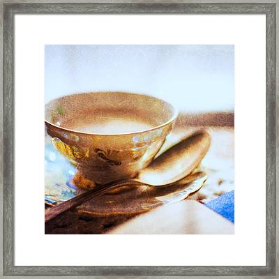 My Cup Of Tea Square Framed Print by Jon Woodhams