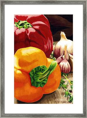 My Cutting Board Framed Print