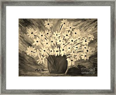 My Daisies Sepia Version Framed Print