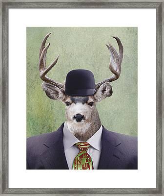 My Deer Man Framed Print by Juli Scalzi