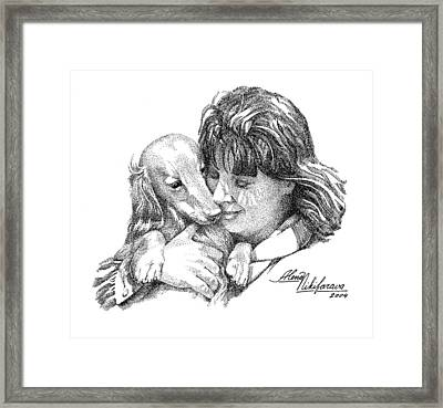 My Dog Is The Best - Stippling  Framed Print