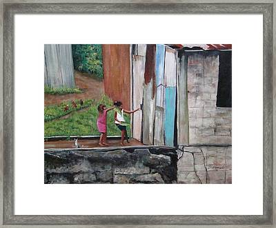 My Doll House Framed Print by Migdalia Bahamundi