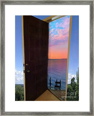 My Door To Success Framed Print by Becky Lupe