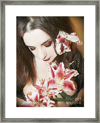 Framed Print featuring the photograph My Dreams In Bloom by Heather King