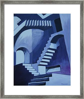My Funky Stairs Framed Print by Tommy Midyette