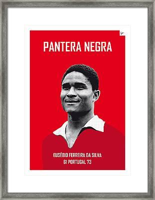 My Eusebio Soccer Legend Poster Framed Print by Chungkong Art
