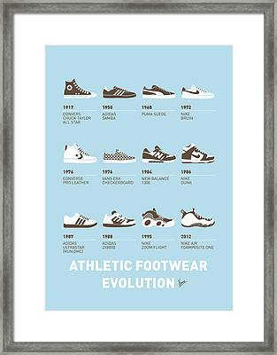 My Evolution Sneaker Minimal Poster Framed Print by Chungkong Art