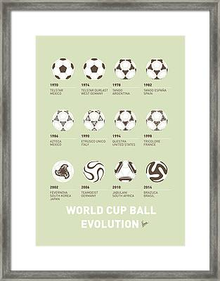 My Evolution Soccer Ball Minimal Poster Framed Print by Chungkong Art